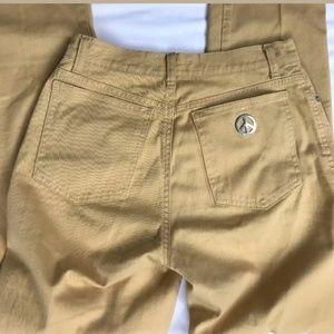 Vintage Moschino Camel Tan Skinny Pants Sz 28
